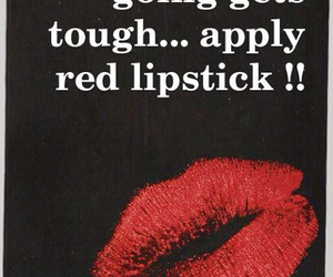lipstick, makeup, and quotes image