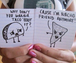 fight, funny, and nacho image
