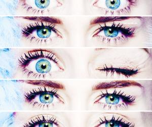 eyes, blue, and miley image