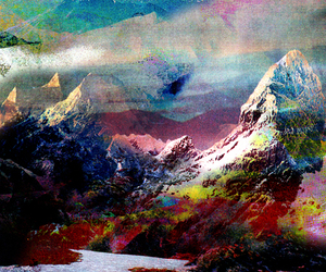 3d, mountains, and river image