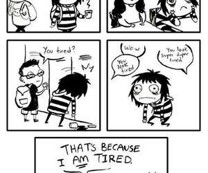 funny, tired, and comic image