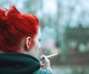 red hair and hair dyed image