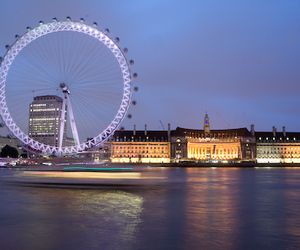 ferris wheel and london image