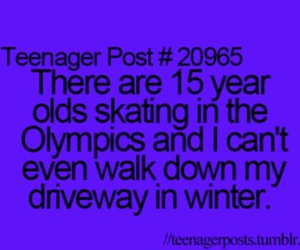 teenager post, funny, and olympics image