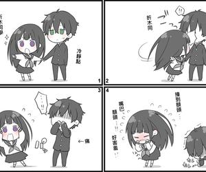 anime, chibi, and hyouka image