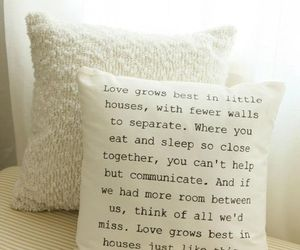 love, quotes, and house image