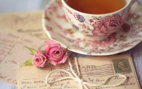 tea, rose, and vintage image