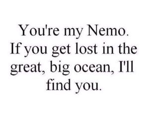 nemo, quote, and ocean image