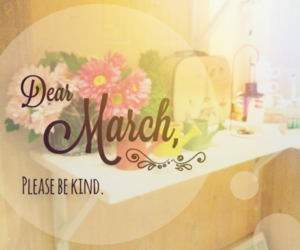 march, flowers, and kind image