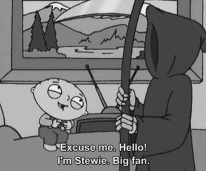 death, family guy, and big fan image