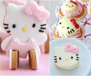 cakes, kitty, and pink image