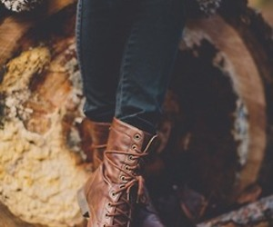 boots, autumn, and shoes image