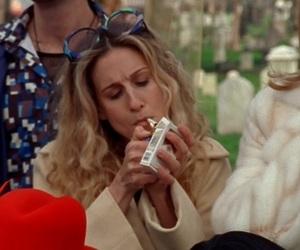 cigarette, ny, and sarah jessica parker image