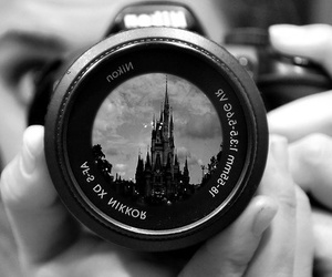disney, black and white, and camera image
