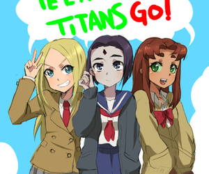 teen titans, starfire, and anime image