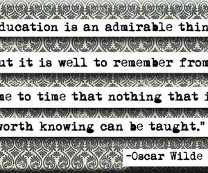 education, oscar wilde, and quote image