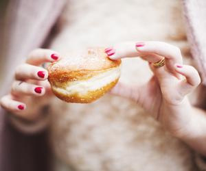 food, nails, and donuts image