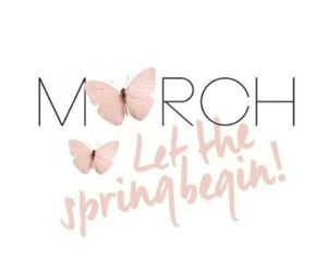 march, butterfly, and spring image