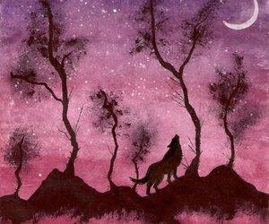 art, beautiful, and wolf image