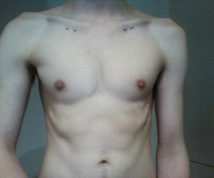 boy, collarbones, and pale image