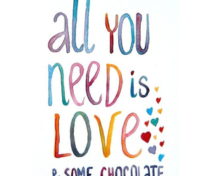 love, chocolate, and need image
