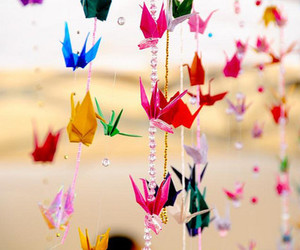 origami, bird, and colors image