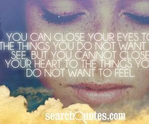 close, eyes, and heart image
