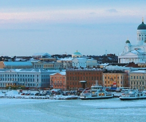 city, ice, and helsinki image