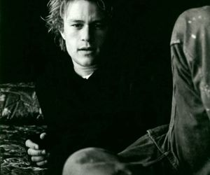 heath ledger, actor, and black and white image