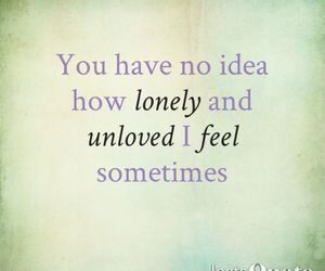 lonely, quote, and sad image