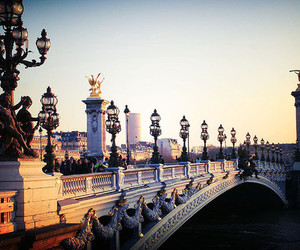 paris, bridge, and france image