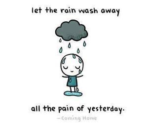 rain, pain, and quote image
