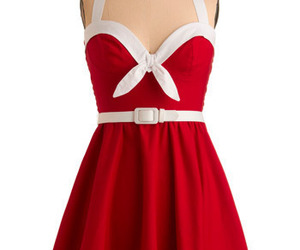 dress, red, and Pin Up image