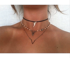 necklace, girl, and summer image