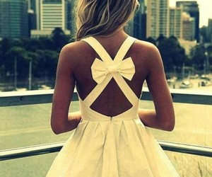 dress, girl, and bow image