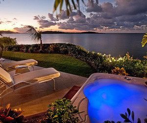 luxury, pool, and ocean image