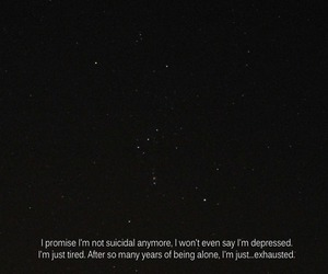 suicidal, alone, and depressed image