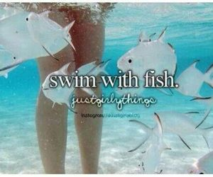 fish, summer, and swim image
