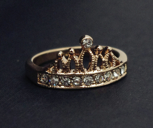 crown, pretty, and ring image