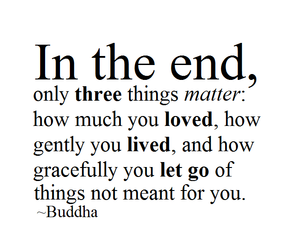 Buddha, let go, and love image