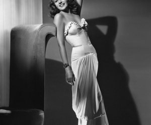 rita hayworth, vintage, and old hollywood image