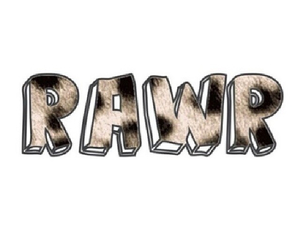 rawr, overlay, and quote image