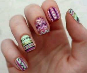 nails, colorful, and pretty image