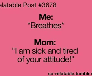 attitude, lol, and mom image