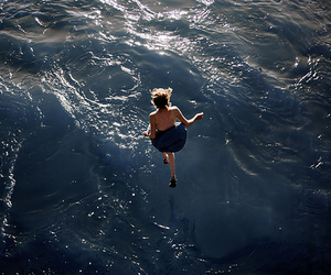 girl, water, and jump image
