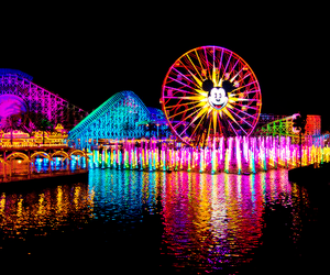 disney, colorful, and disneyland image