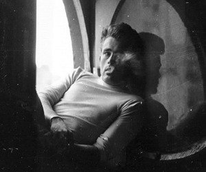 black and white, james dean, and vintage image