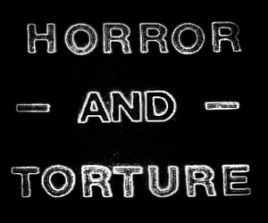 horror, torture, and b&w image