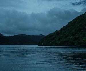 nature, dark, and lake image