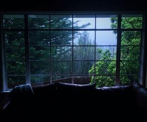 window, nature, and dark image